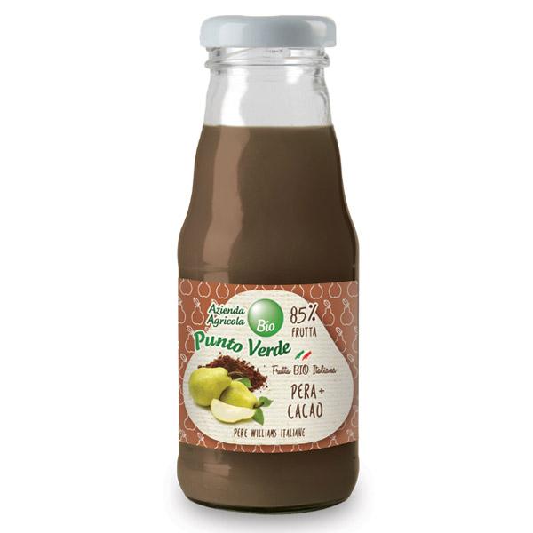 succo di frutta bio pera e cacao