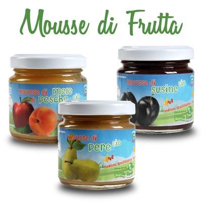 Mousse di frutta biologiche